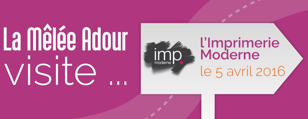 La Mêlée Adour visite l'Imprimerie Moderne