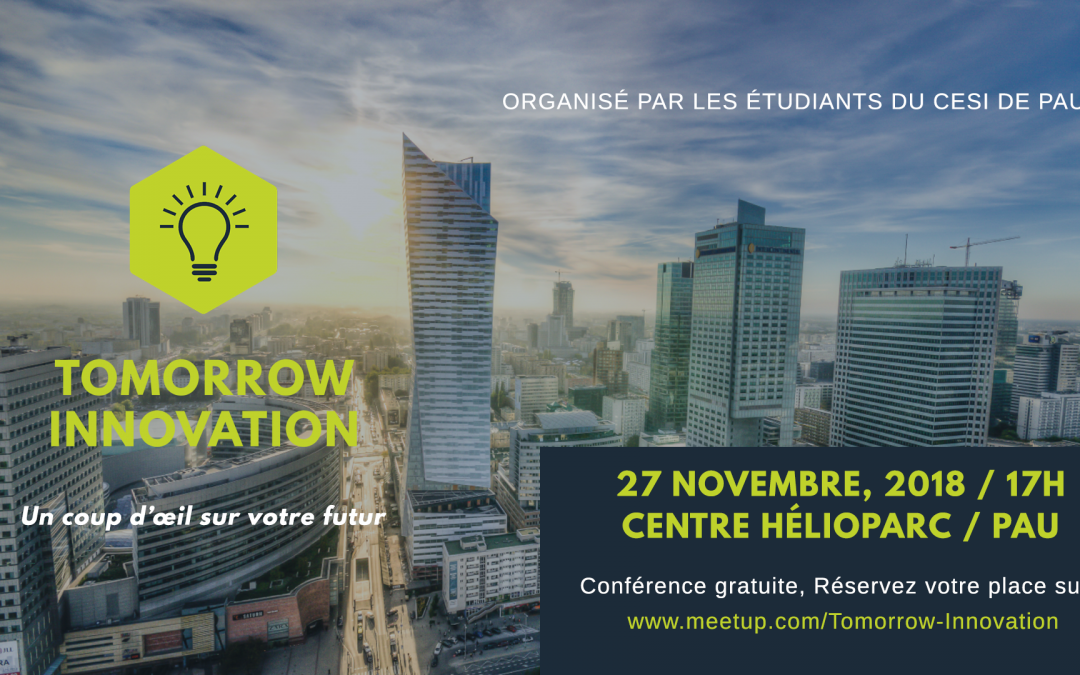 Tomorrow innovation – 27 novembre 2018 à Pau