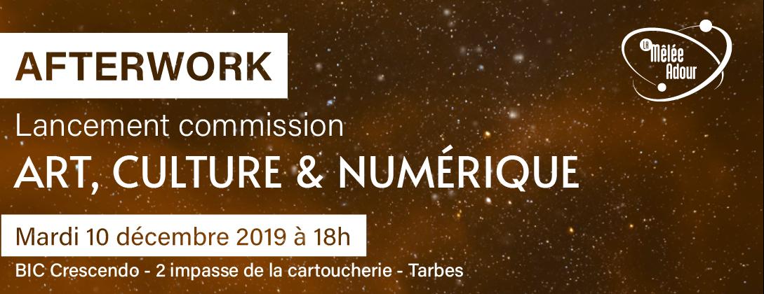 Afterwork lancement de la commission Art, Culture et Numérique