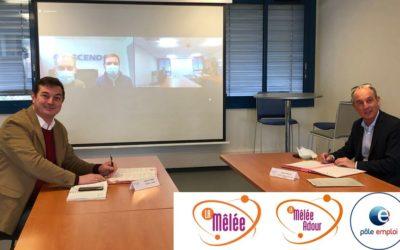 Partenariat entre Pôle emploi, La Mêlée Adour et La Mêlée